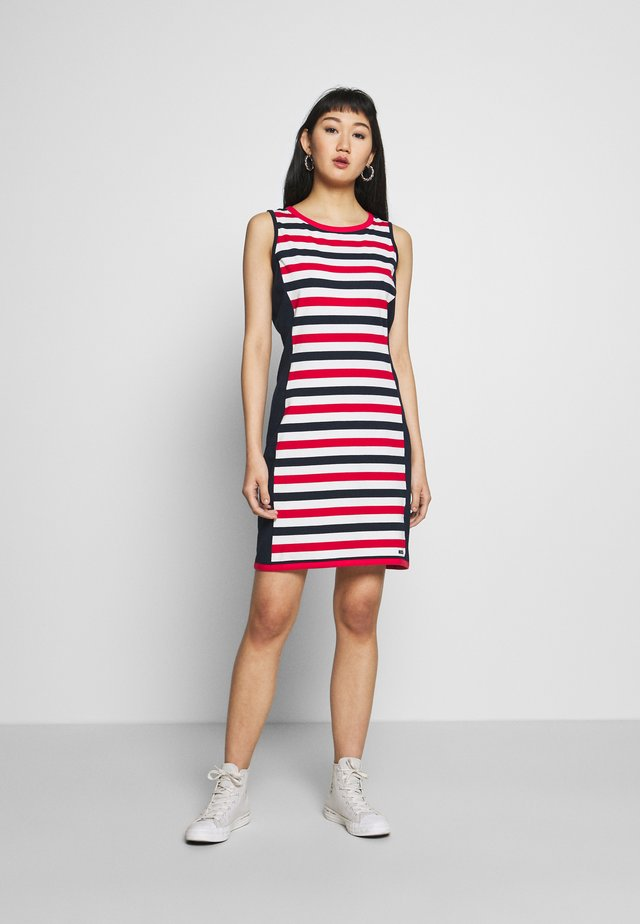 CORDELIA - Jersey dress - true red/pearl/navy