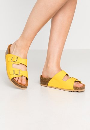 BIABETTY WEDGE BUCKLE - Slippers - yellow