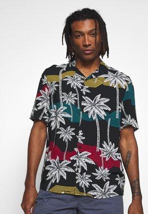 PALM TREE RESORT SHIRT - Shirt - black