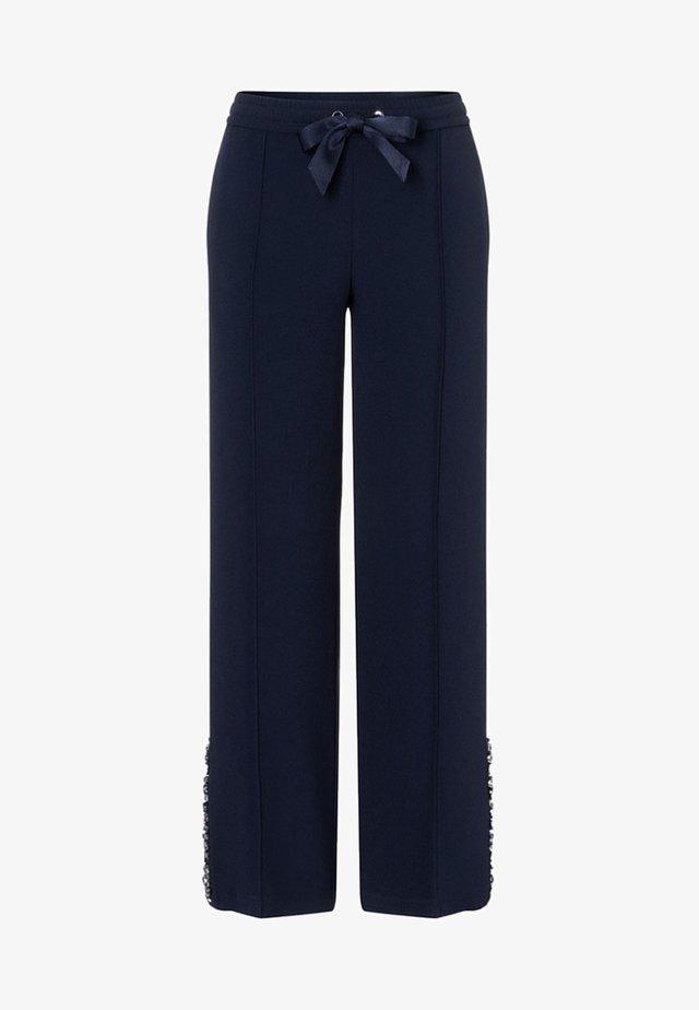 MIT STRASSSTEINEN - Trousers - navy