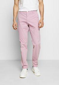 Tommy Hilfiger Tailored - STRETCH SLIM FIT PANTS - Tygbyxor - purple - 0