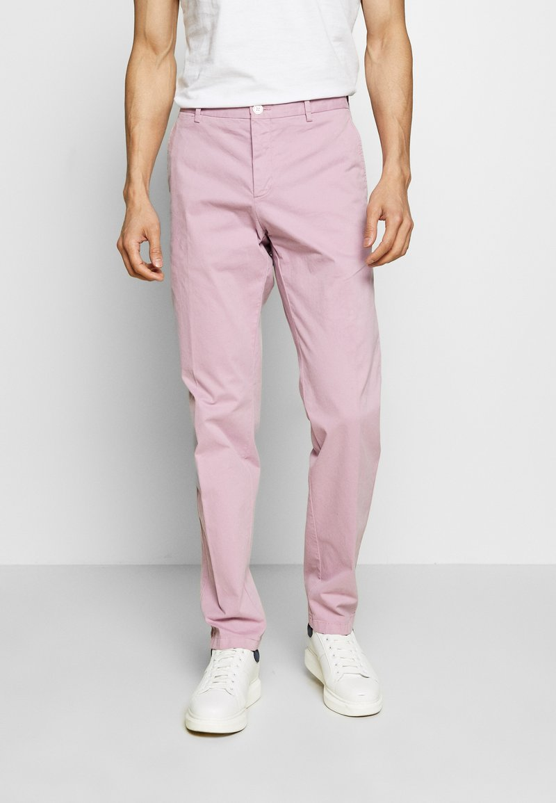 Tommy Hilfiger Tailored - STRETCH SLIM FIT PANTS - Tygbyxor - purple