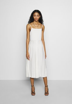 PLEATED STRAP DRESS - Day dress - white