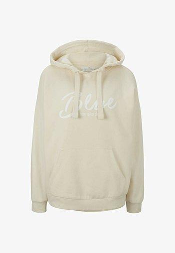 Hoodie - soft creme beige