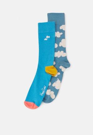 CLOUDY 2 PACK UNISEX - Socks - blue
