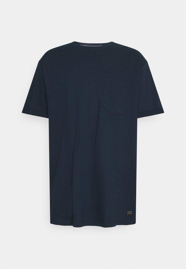 BHNASIR ORGANIC TEE - T-shirt basic - dress blues