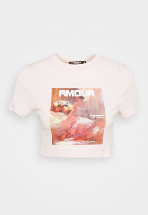 AMOUR GRAPHIC FITTED CROP  - Camiseta estampada - pink