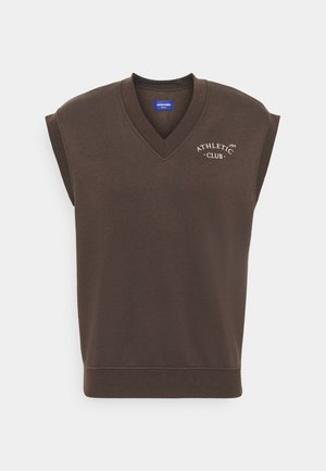 JORTOBIAS V-NECK VEST UNISEX - Sweatshirt - seal brown