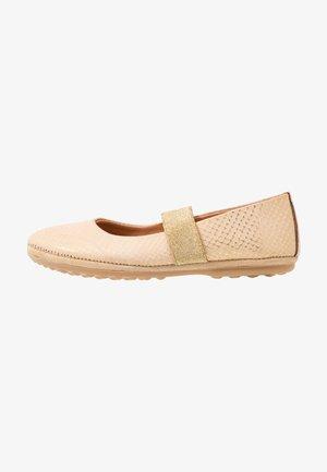 QUINN - Ankle strap ballet pumps - gold