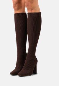 ALDO - LOWEREAST - Stivali alti - dark brown - 0