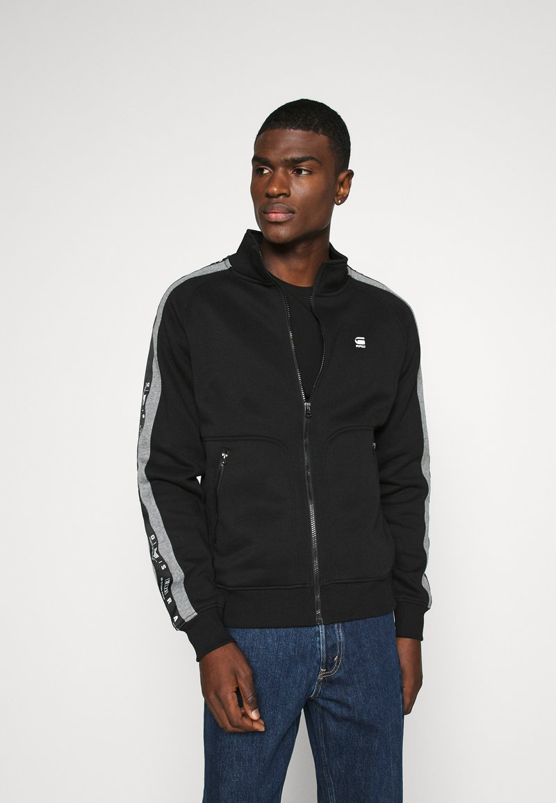 G-Star - STRIPE JACKET - Zip-up hoodie - black