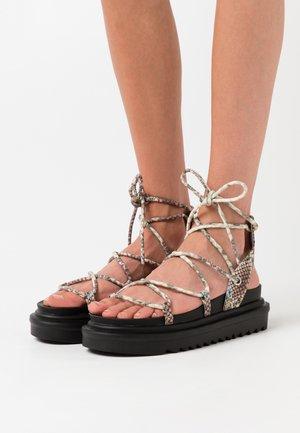 SHELBY - Platform sandals - blue