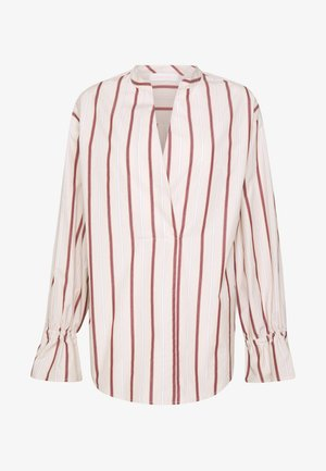 Blouse - red/beige