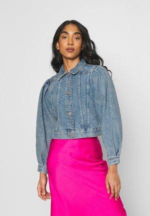 ONLCHARLIE LIFE PUFF - Denim jacket - medium blue denim