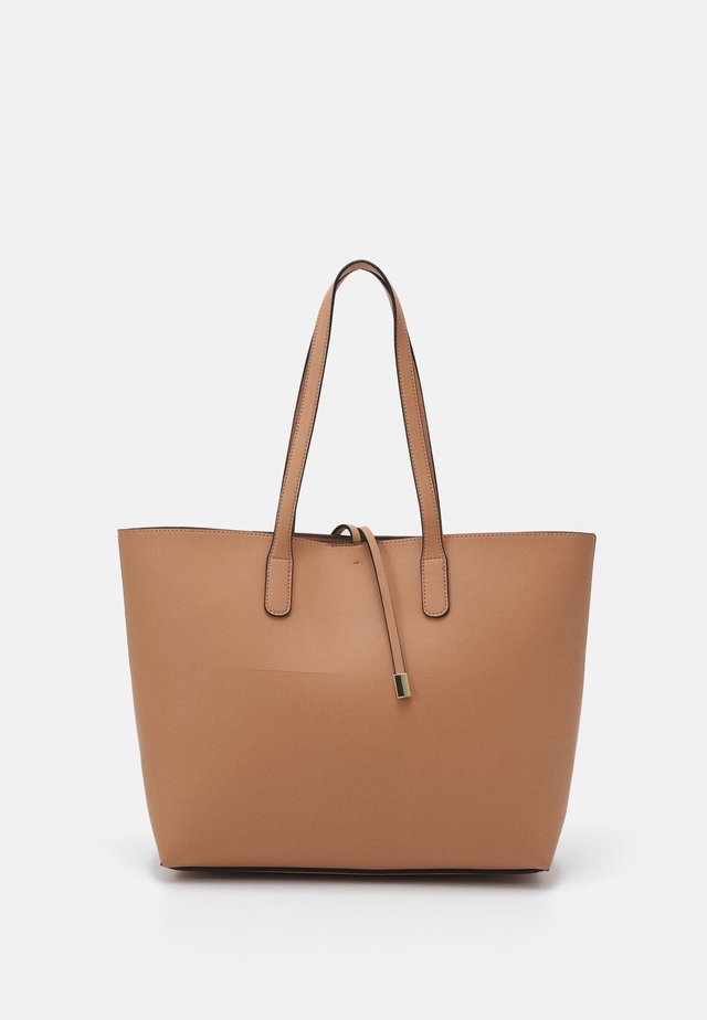 TIE DETAIL - Shopping Bag - nude