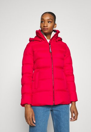 GLOBAL STRIPE - Down coat - primary red