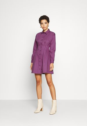 Shirt dress - plum