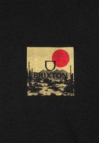 Brixton - ALPHA BLOCK - T-shirt imprimé - black/blonde - 2