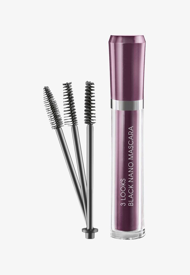 3 LOOKS BLACK NANO MASCARA 6ML - Mascara - schwarz