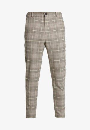 TAPER TROUSER HUNTERS CHECK - Spodnie materiałowe - beige