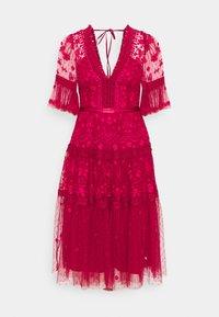 Needle & Thread - LOTTIE MIDI DRESS - Cocktail dress / Party dress - deep red - 0