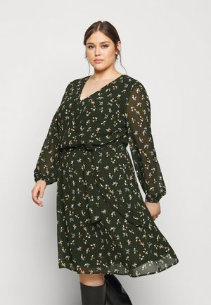 FEMININE FAKE WRAP DRESS - Day dress - rosin