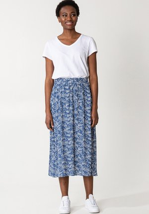 SIBEL  - A-line skirt - blue