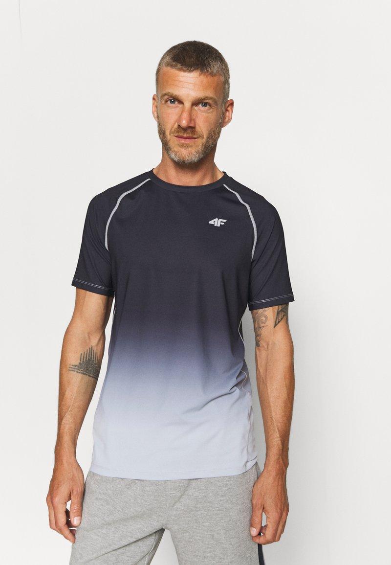 4F - Men's training T-shirt - Print T-shirt - black