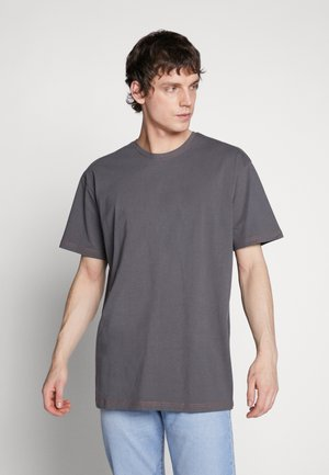 HEAVY OVERSIZED CONTRAST STITCH TEE - Print T-shirt - darkshadow/brick