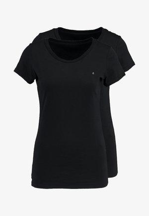 2 PACK - T-shirt basic - black-black