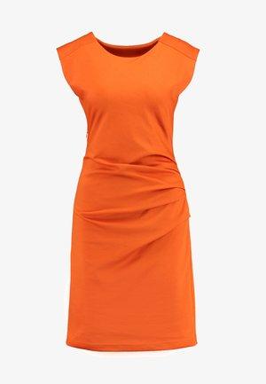 INDIA O NECK - Shift dress - burnt orange