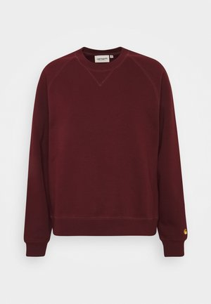 CHASE - Sweatshirt - bordeaux/gold