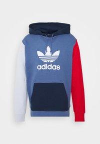 adidas Originals - BLOCKED UNISEX - Jersey con capucha - crew blue/halo/scarlet - 5