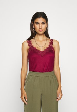 Topper - bordeaux red