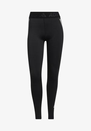 TECHFIT STRIPES LONG - Leggings - black/white