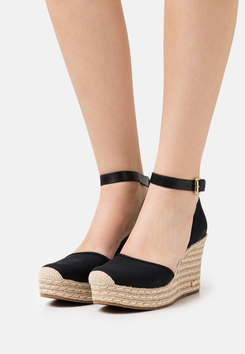 MICHAEL Michael Kors - KENDRICK WEDGE - Platform heels - black