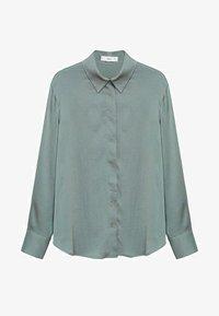 Mango - FLUIDE  - Button-down blouse - vert - 6