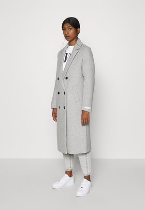 TAILORED DOUBLE BREASTED COAT - Villakangastakki - light grey melange