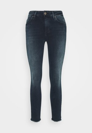 ONLBLUSH LIFE MID RAW  - Jeans Skinny Fit - blue / black