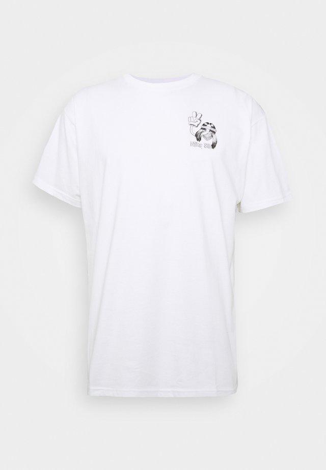 TEE DUDER UNISEX - T-shirt imprimé - white