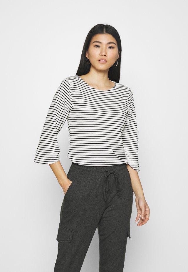 LIMIANA - Long sleeved top - chalk/black