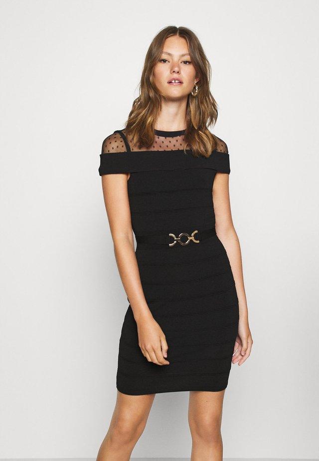 RMOLIA - Stickad klänning - noir
