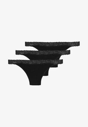 BEA 3 PACK - Tanga - black