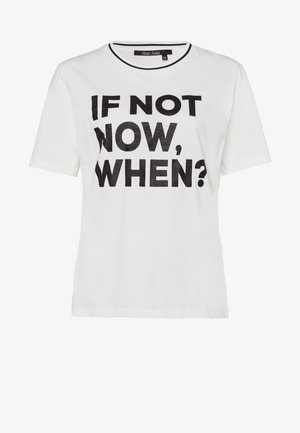 Print T-shirt - off white varied