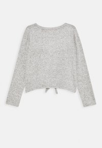 Levi's® - TIE FRONT - Strickpullover - light gray heather - 1