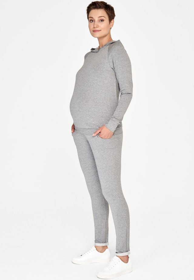 BASIC - Trousers - grey melange
