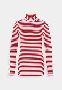Calvin Klein - STRIPE TURTLE NECK - Long sleeved top - red - 0