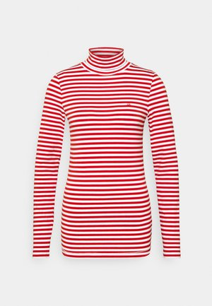 STRIPE TURTLE NECK - Long sleeved top - red