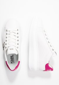 KARL LAGERFELD - KAPRI IKONIC LACE - Sneakers - white/pink - 3