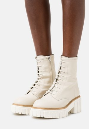 Lace-up ankle boots - offwhite